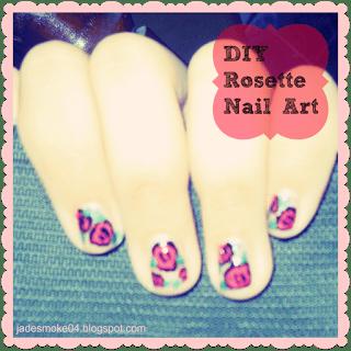 DIY ROSETTE NAIL ART http://jadesmoke04.blogspot.com/