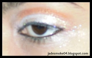 White Peacock Inspired Eye-Makeup by Jasmine Catches Butterflies
