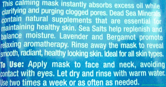 Freeman Anti-Stress Mask With Dead Sea Minerals