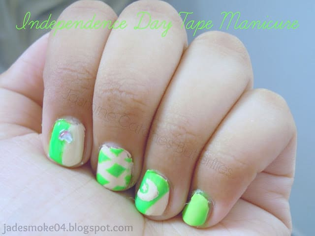 Saturday Nail Tutorial: Independence Day Tape Manicure