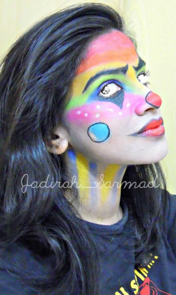 Halloween Look Creepy Rainbow Clown
