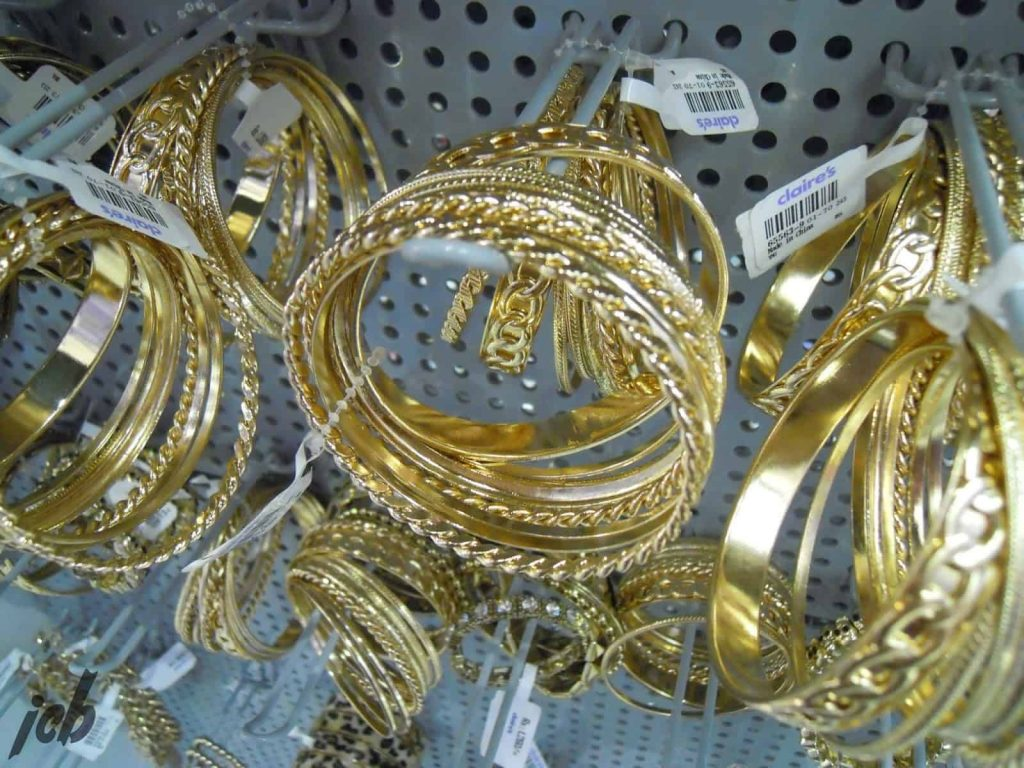 Claire's Gold Bangles
