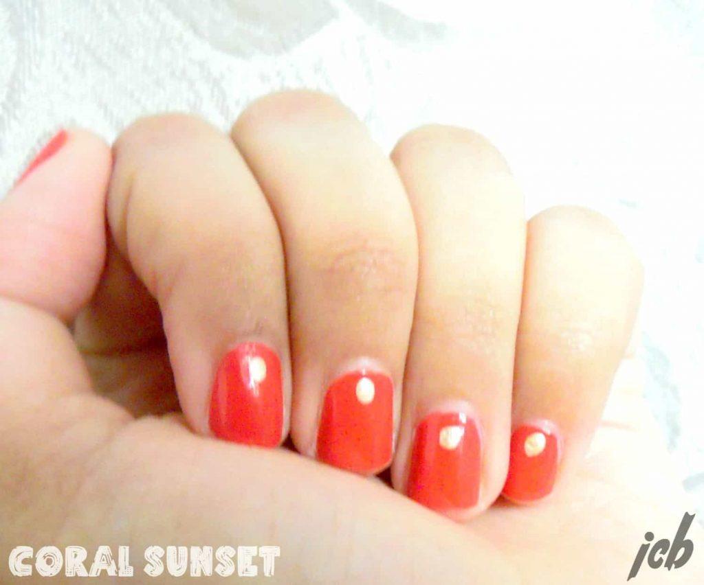 Coral Sunset Nail Art