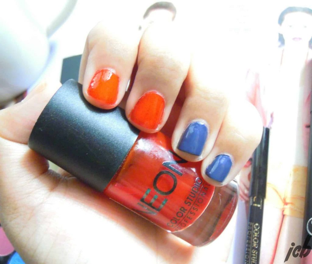 Color Studio Nail Polishes in Purple Nation and Neon Red