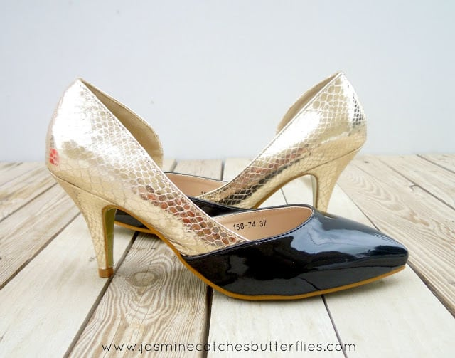 Black and Gold Heels from Regal
