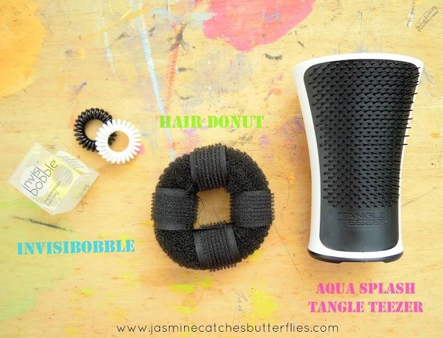 Invisibobble Hair Donut Aqua Splash Tangle Teezer