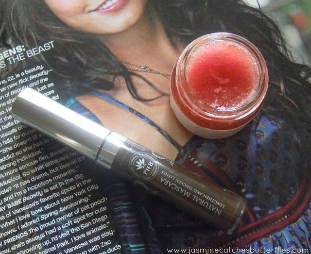 PHB Natural Mascara and LUSH Lip Scrub
