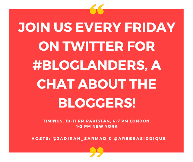 Bloglanders Twitter Chat