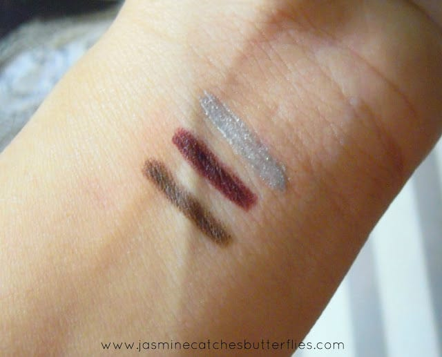 Sweet Touch England Brown Eyeliner, 808 Cherry, Pearly Silver
