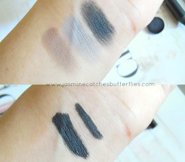 Black Smoky Eyes Eye Makeup Swatches