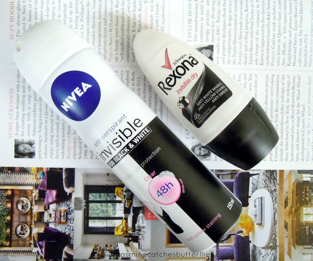 Nivea Anti-Perspirant Invisible For Black and White and Rexona Invisible Dry Deodorant
