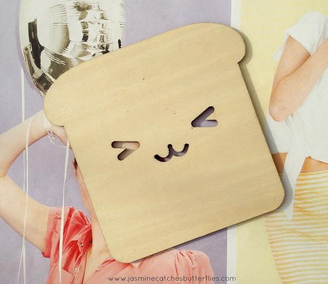 Kawaii Wooden Toast Coaster