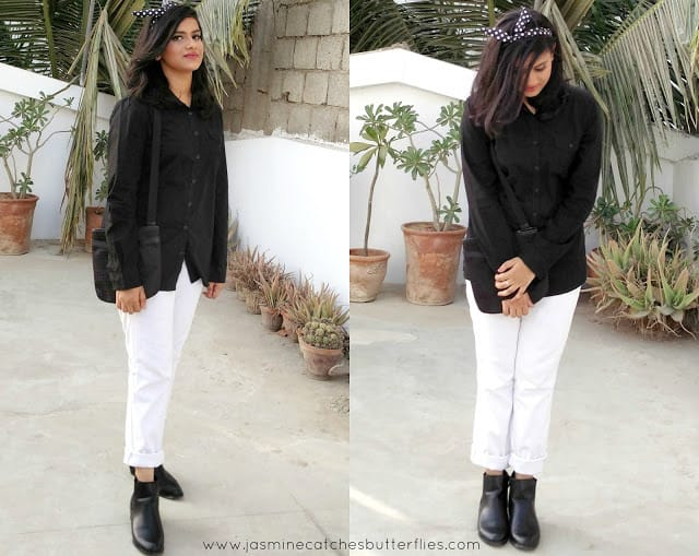 Monochrome Outfit styled with Born Pretty Accessories