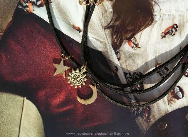 Moon Star Sun Layered Necklace Set from Zaful