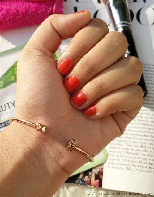 Triangle Alloy Cuff Bracelet from Rose Gal