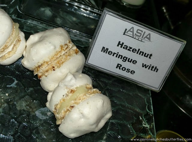 Hazelnut Meringue with Rose Cream