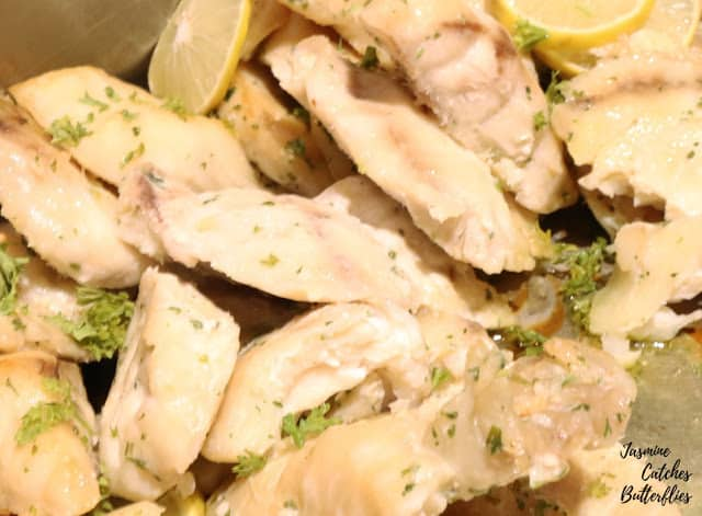 Oven Baked Fish with Lemon and Olive Oil