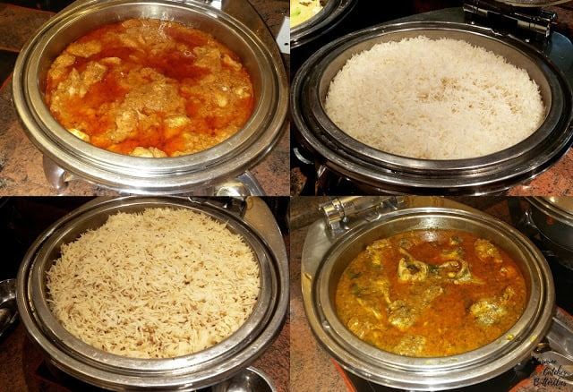 Butter Chicken Curry and Fish Curry