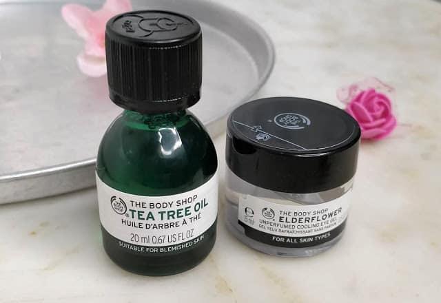 The Body Shop Tea Tree Oil and Elderflower Unperfumed Cooling Eye Gel