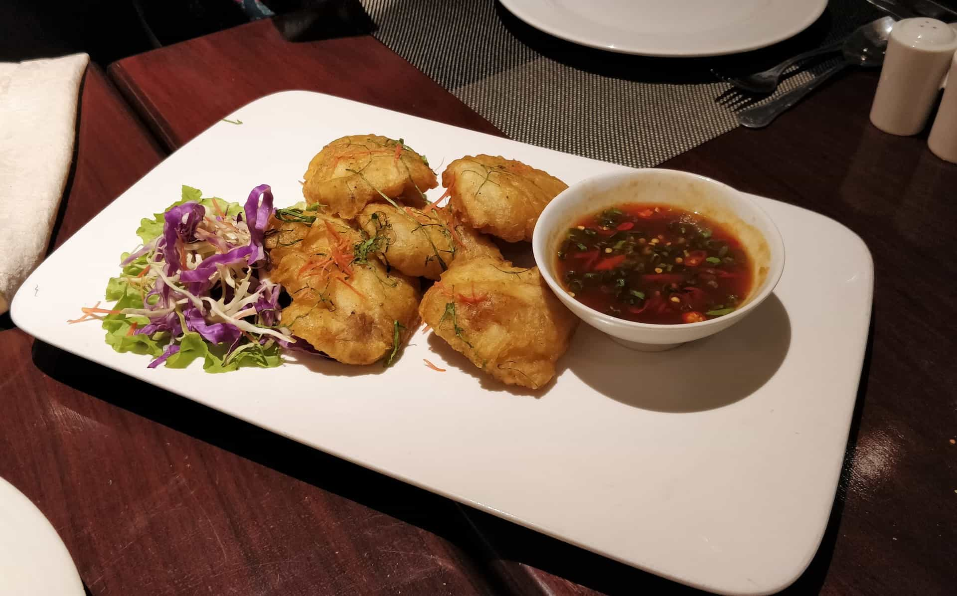 Thai Fish Tempura with Tamarind Sauce