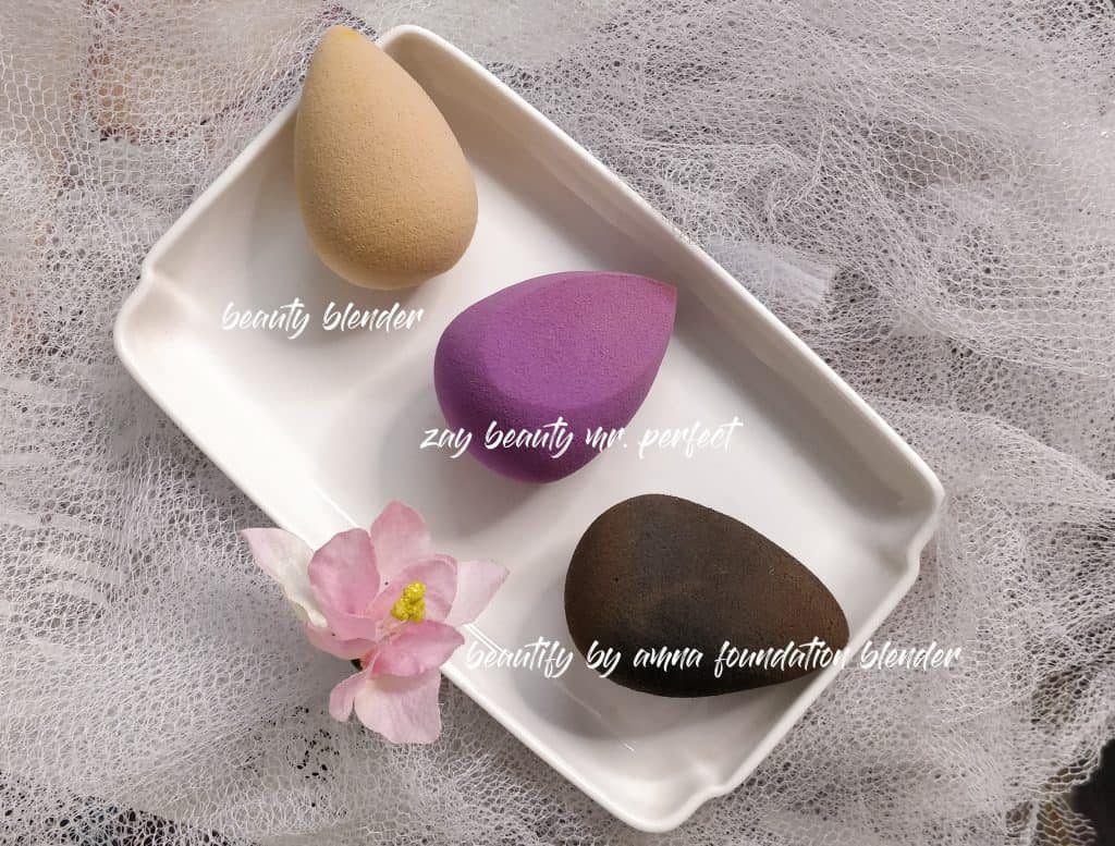 Beauty Blender, Zay Beauty, Beautify By Amna makeup sponges