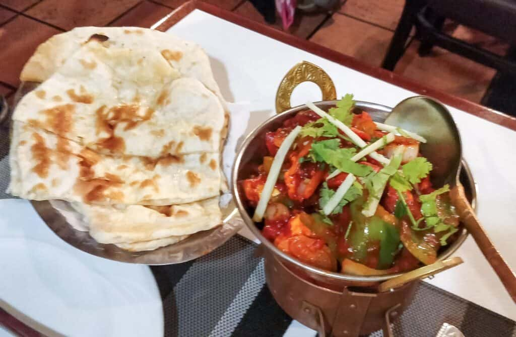 Chili Paneer and Butter Naan